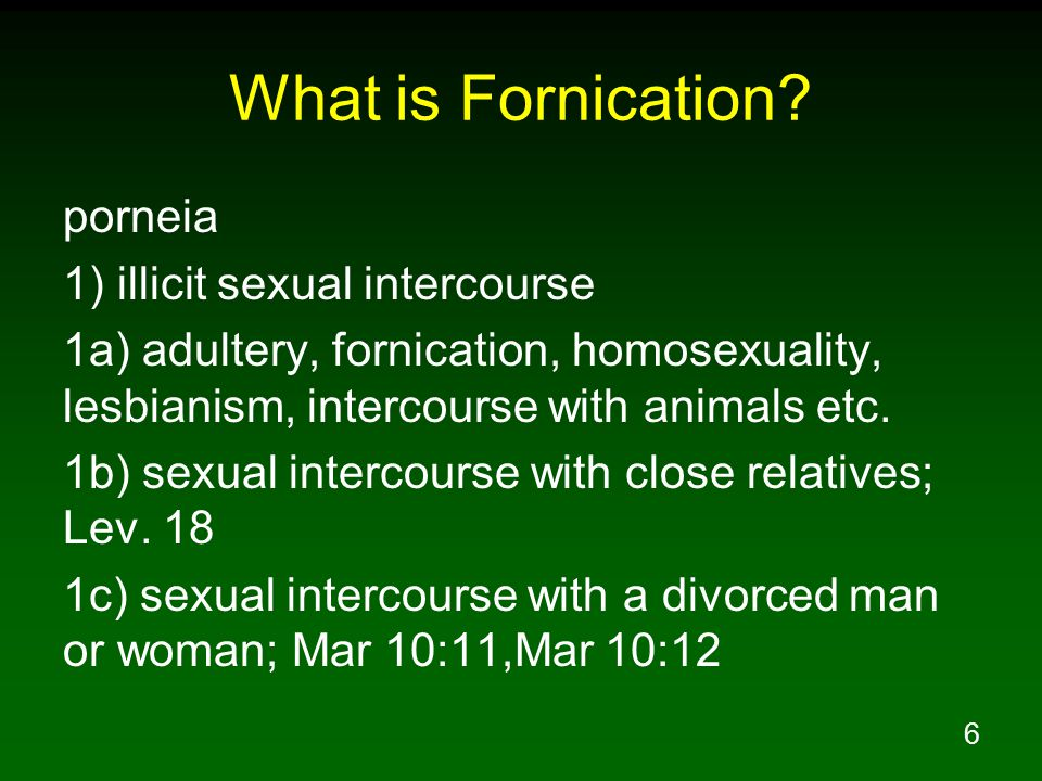 Illicit sexual intercourse definition