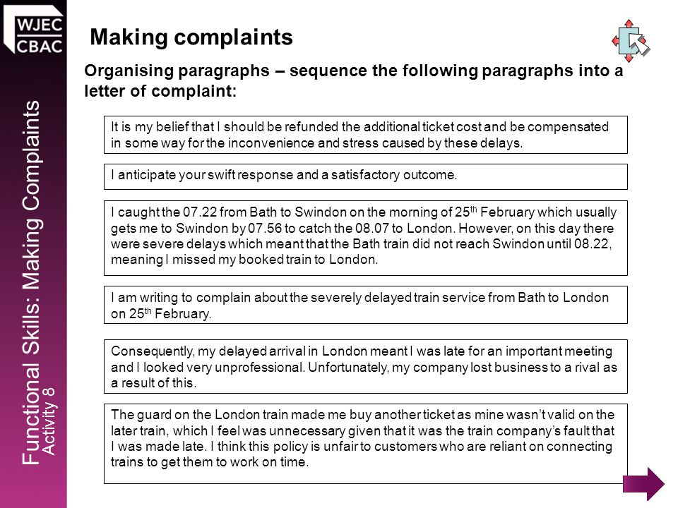 Making Complaints Activity 1 Activity 5 Activity 9 Activity 2 - ppt