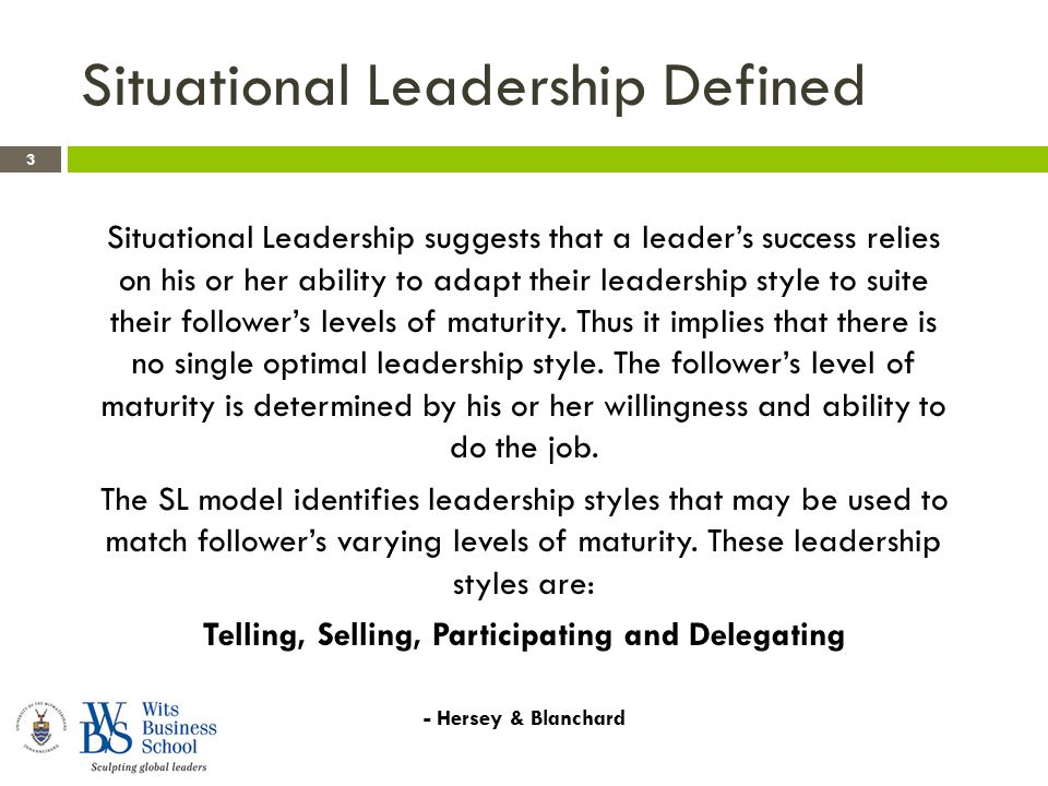 Situational Leadership And Contingency Theory Ppt Download