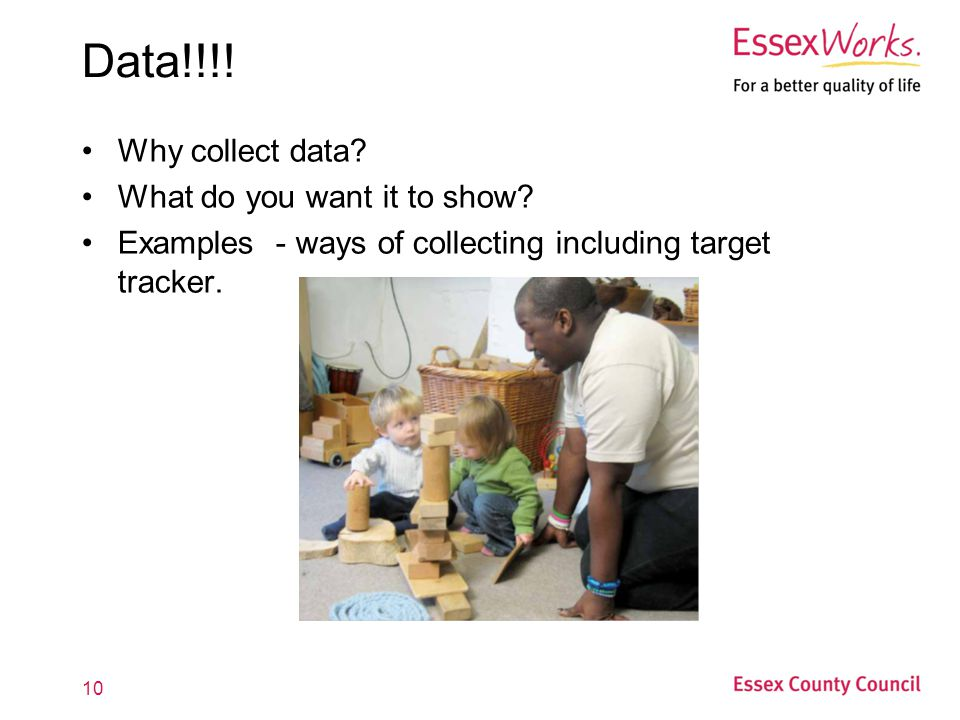 Data!!!! Why collect data What do you want it to show