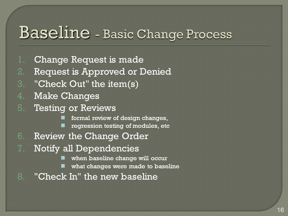 Baseline - Basic Change Process