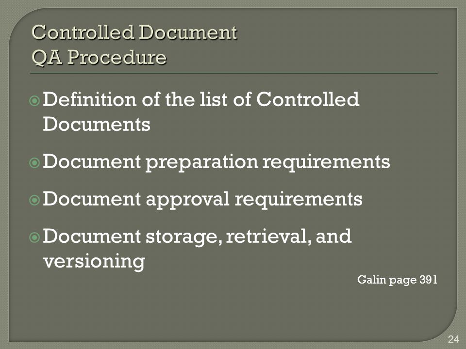Controlled Document QA Procedure
