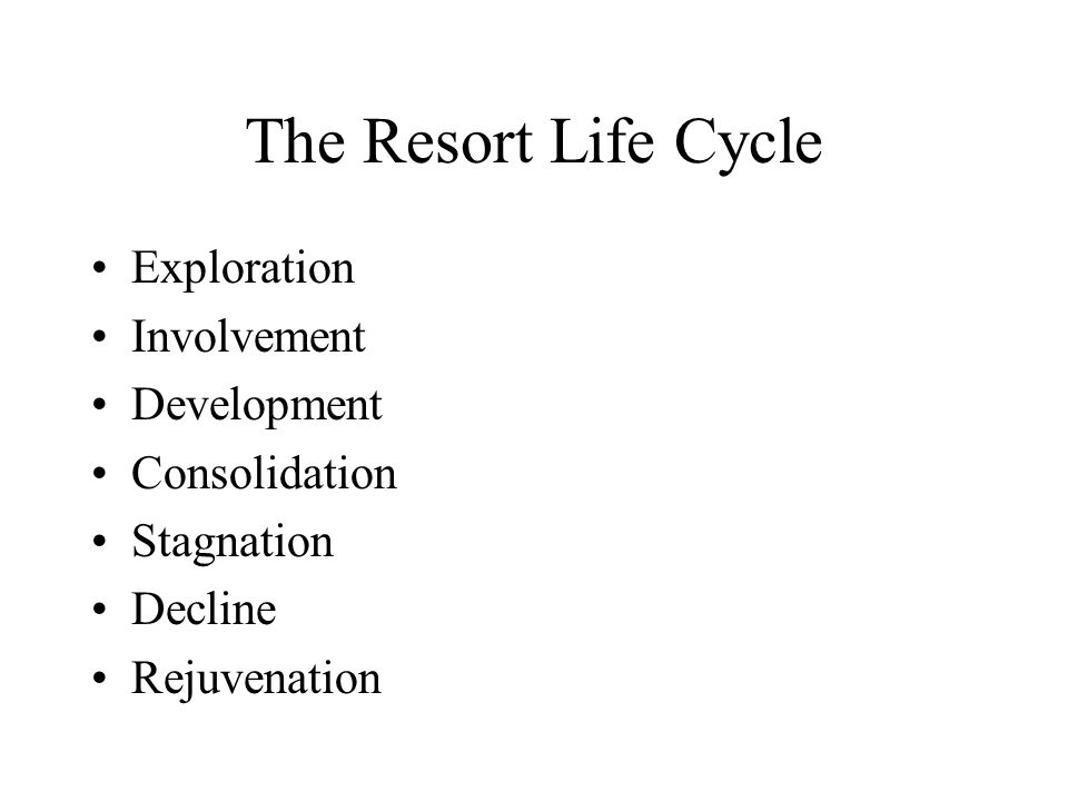 The Resort Life Cycle Exploration Involvement Development