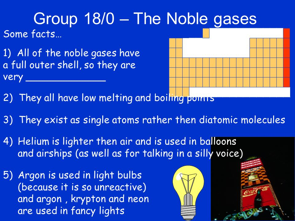Noble Gases Ppt Video Online Download