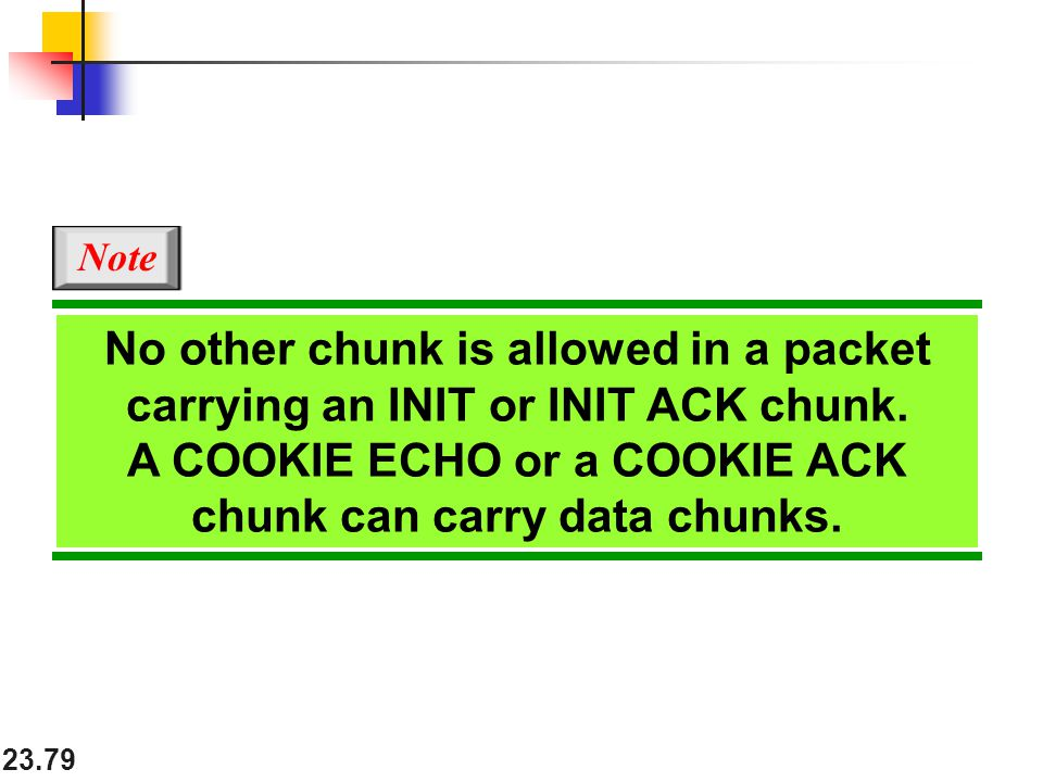 A COOKIE ECHO or a COOKIE ACK chunk can carry data chunks.