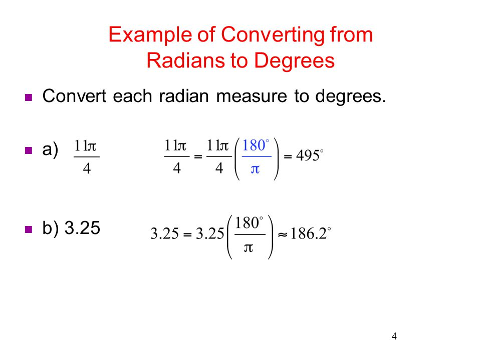 review radian measure and circular functions rev s ppt