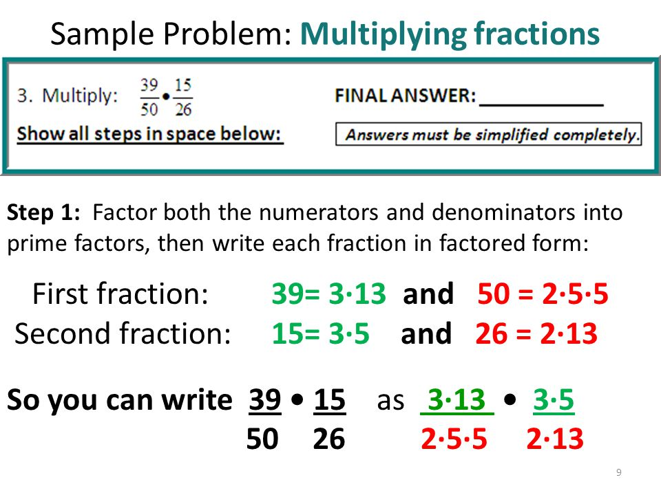 Section 1.3 Prime numbers and fractions - ppt download