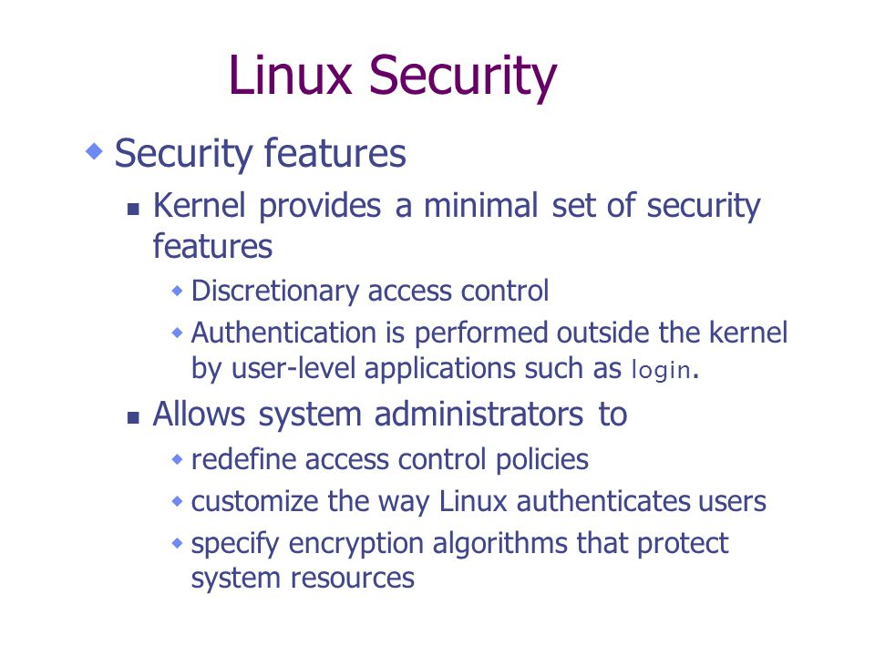 Linux Security  - ppt download