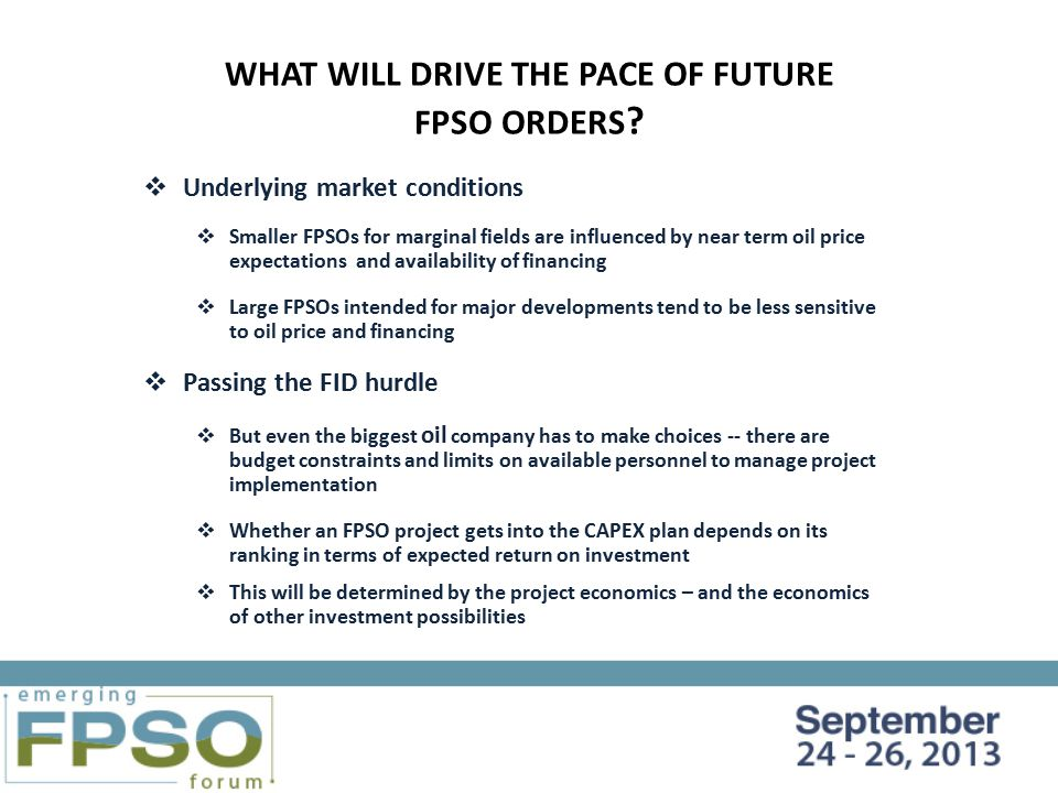 FUTURE FPSO PROJECTS IN THE DECISION-MAKING PROCESS - ppt video