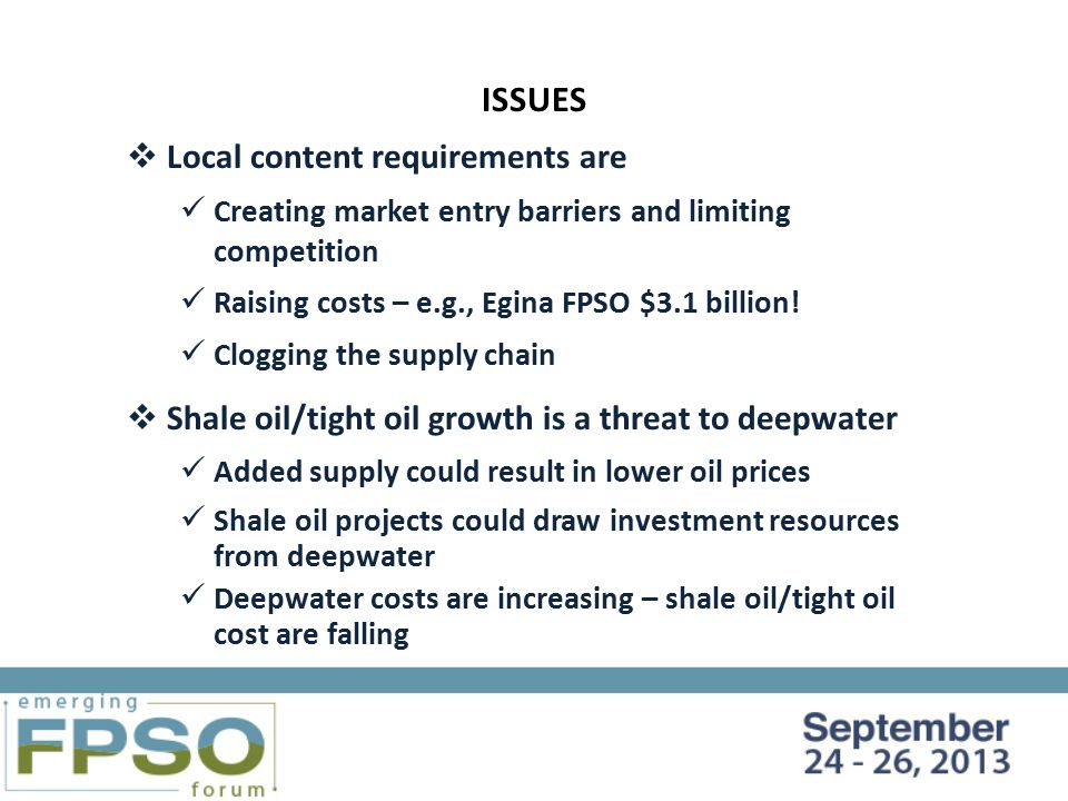 FUTURE FPSO PROJECTS IN THE DECISION-MAKING PROCESS - ppt