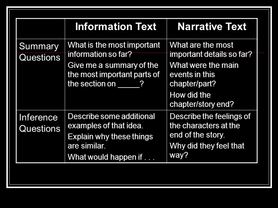Information Text Narrative Text
