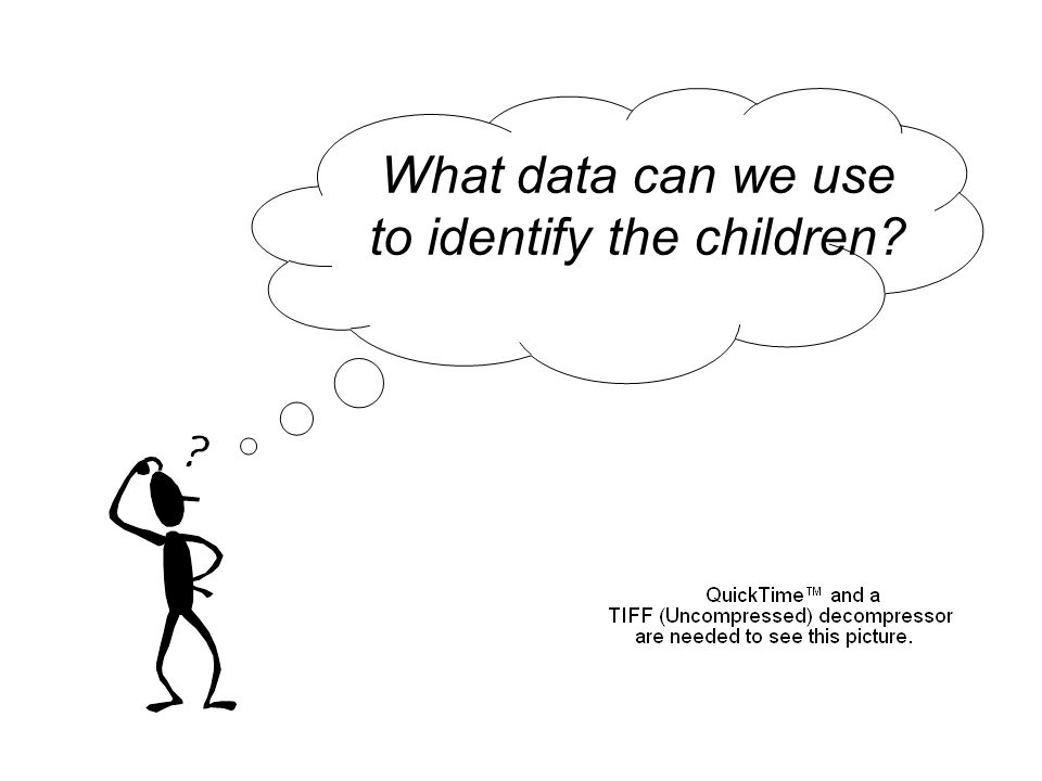 What data can we use to identify the children