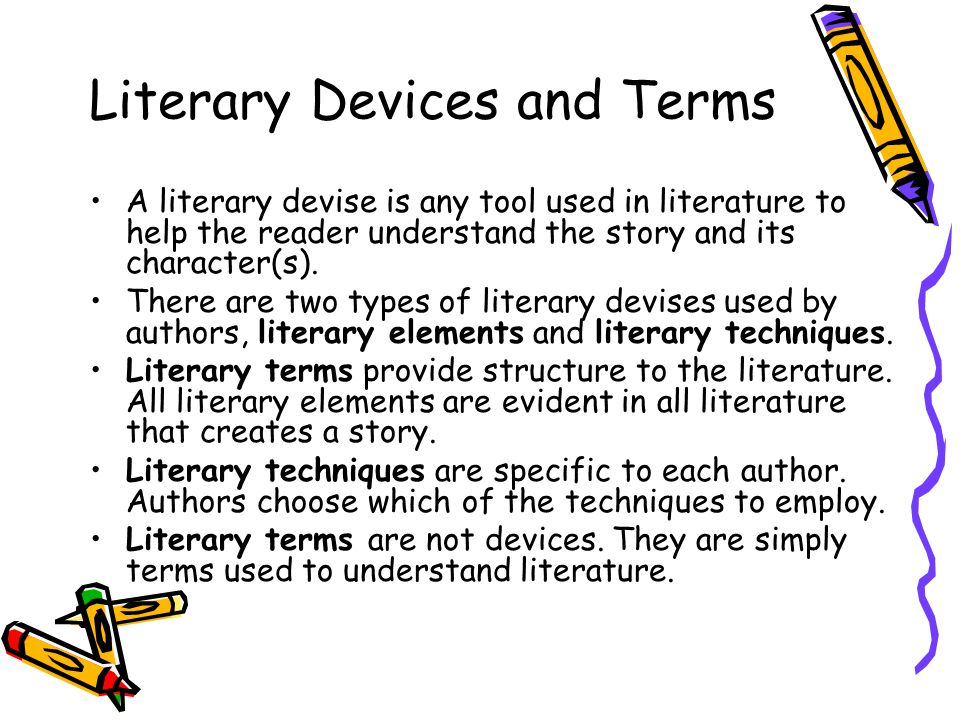 Literary Devices Literary Elements Techniques And Terms From Ms