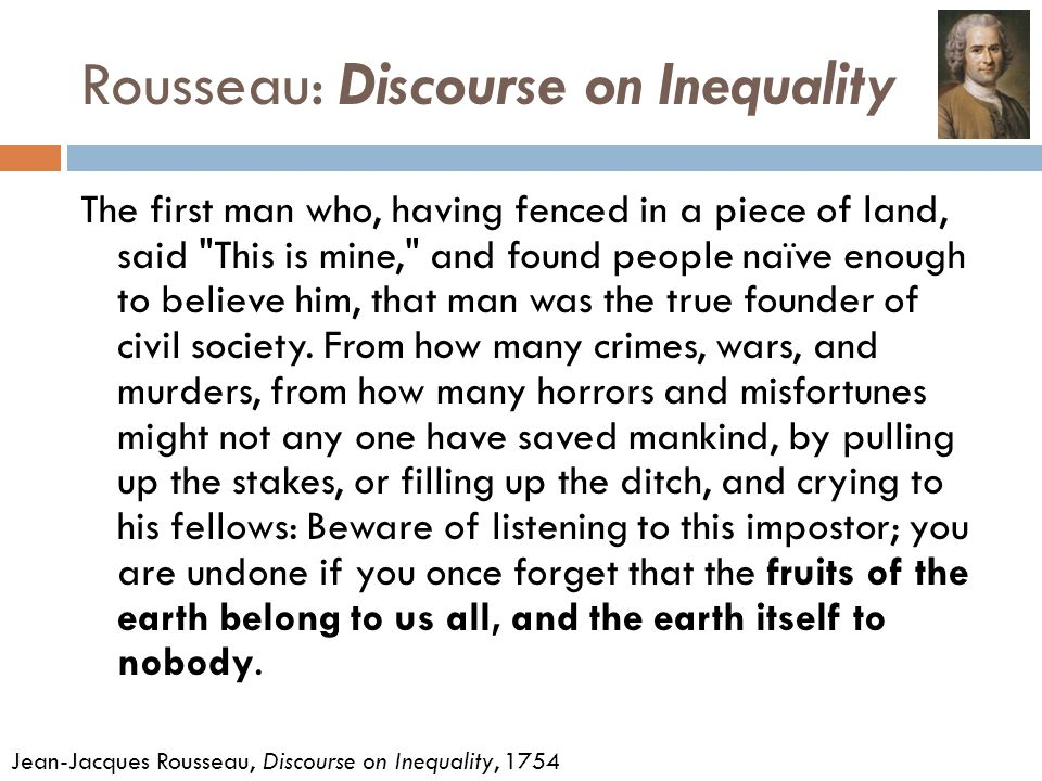 discourse on inequality summary