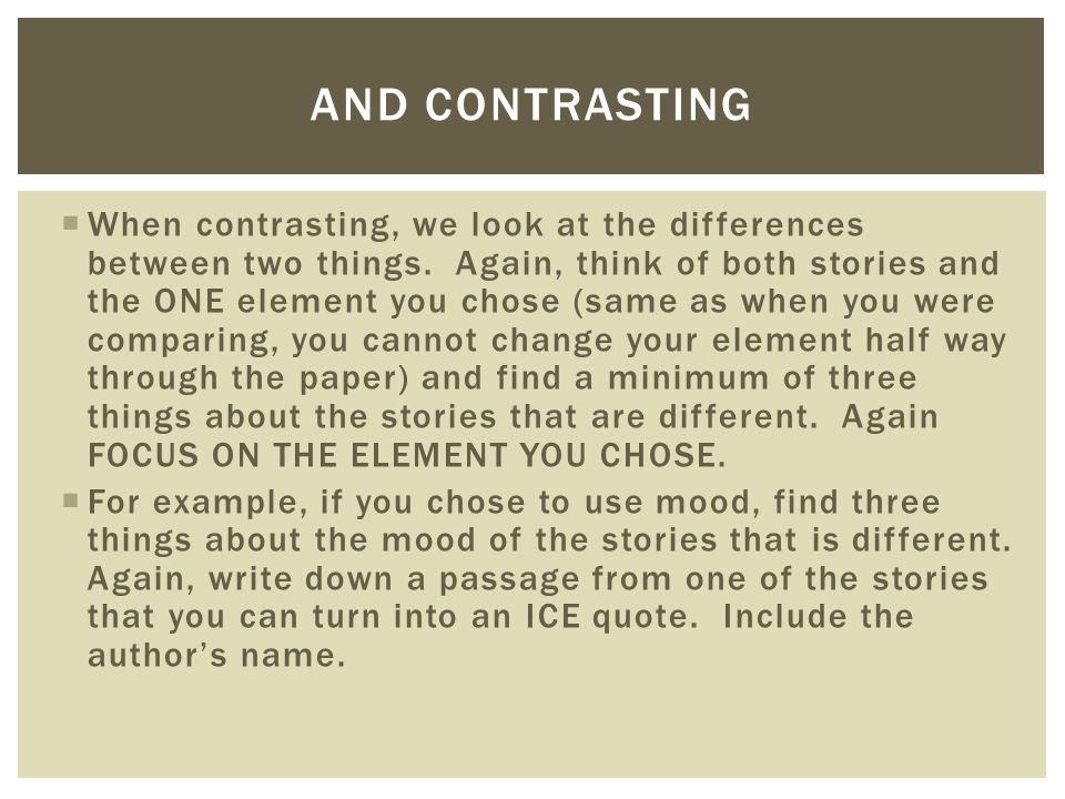 compare contrast essay two authors