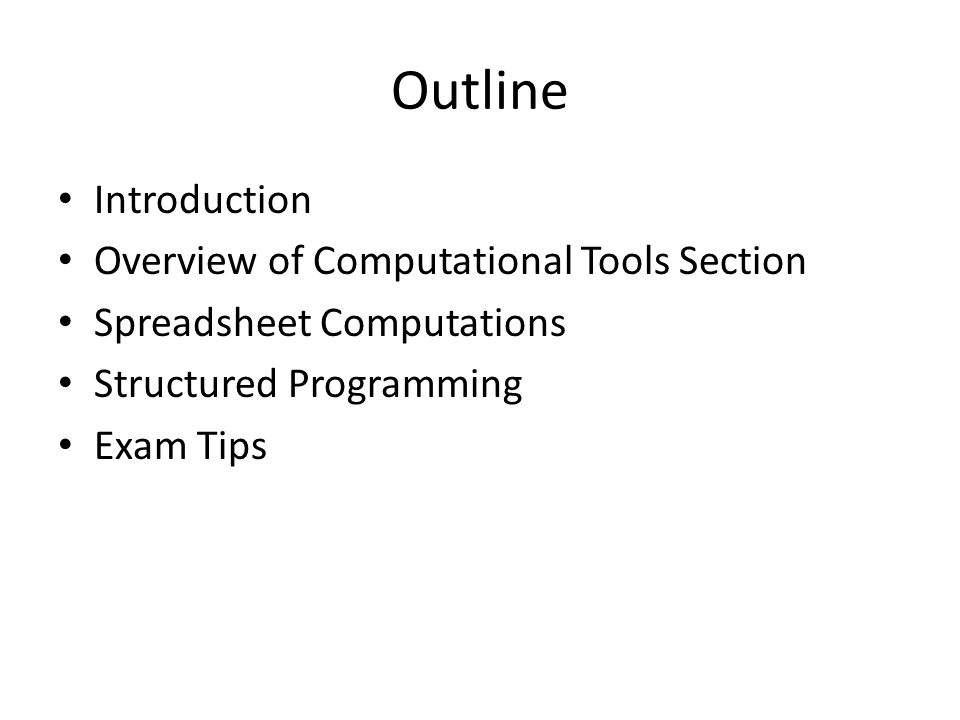 FE Review Computational Tools - ppt video online download