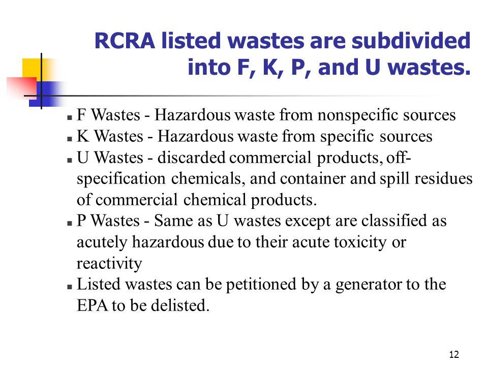RCRA (Resource Conservation and Recovery Act) - ppt video