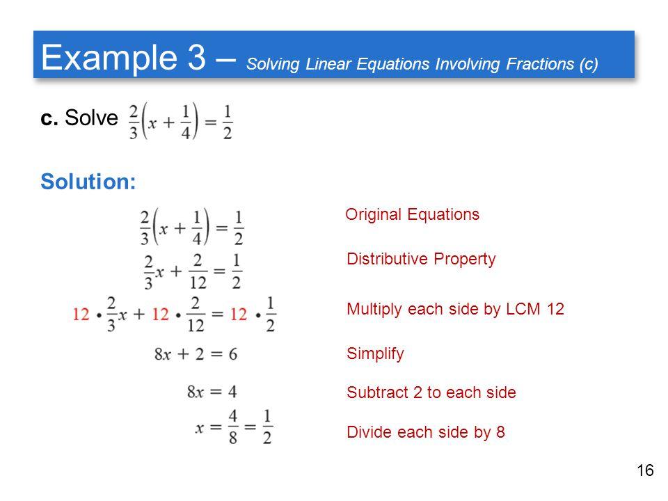 problem solving involving linear equation