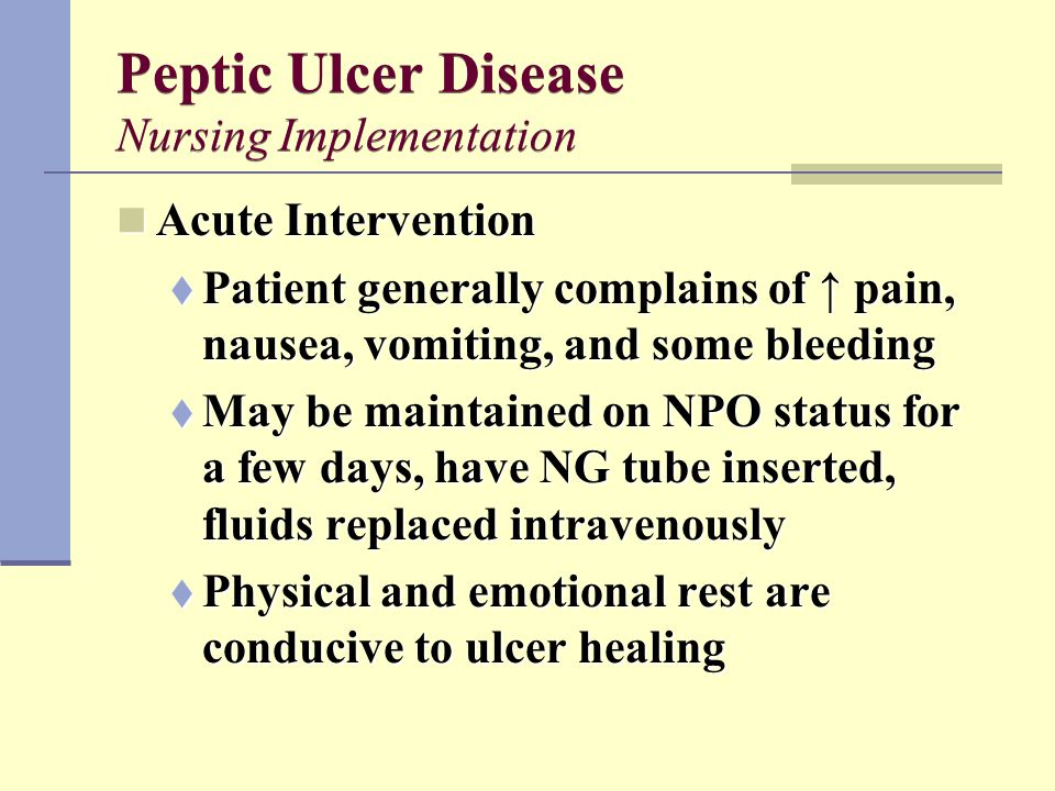 Peptic ulcer disease therapy ppt video online download.