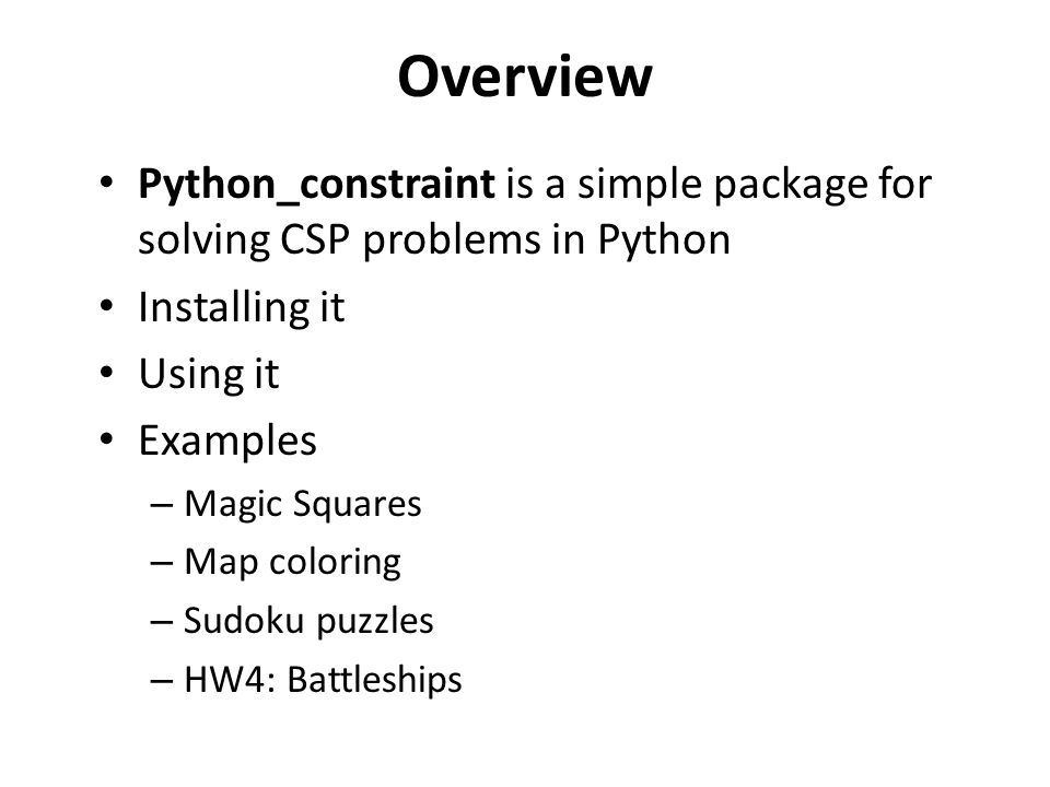 Constraints py  - ppt download