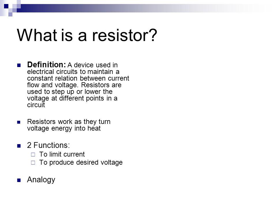 Chapter 5: Resistors. - ppt video online download