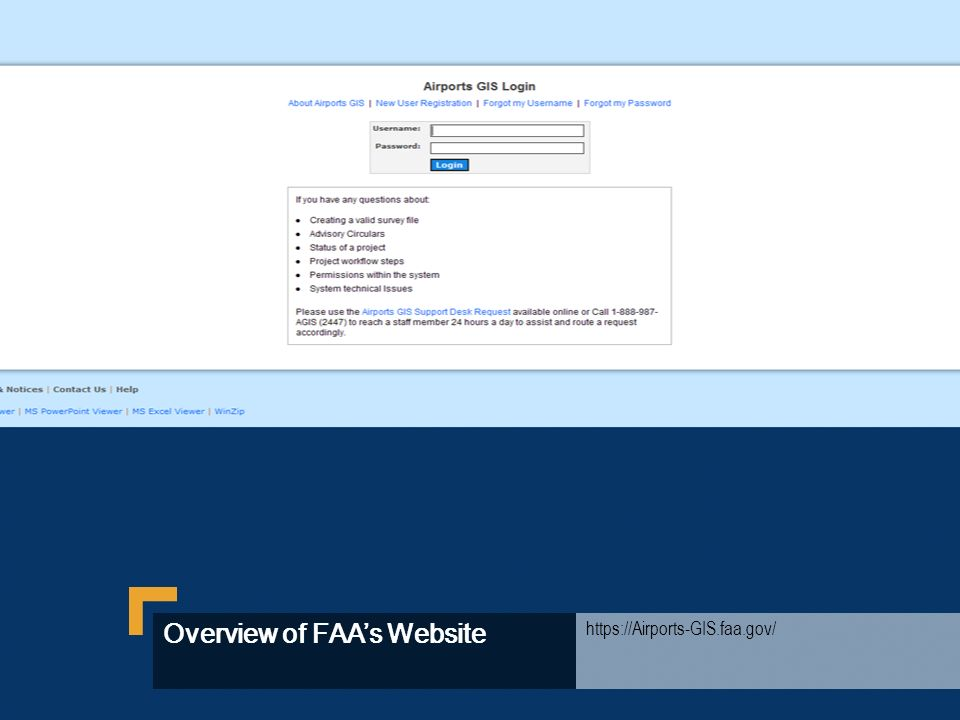 Overview of FAA's Website