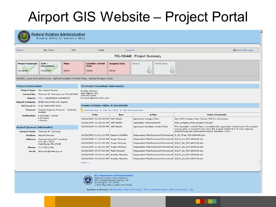 Airport GIS Website – Project Portal