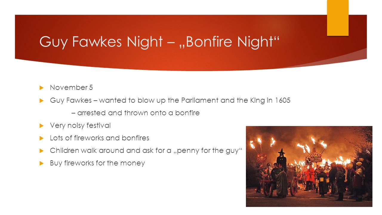 "Guy Fawkes Night – ""Bonfire Night"