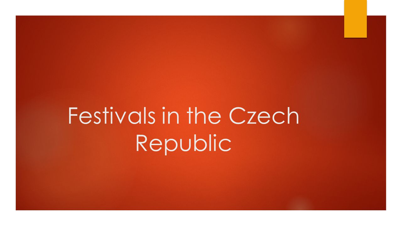 Festivals in the Czech Republic