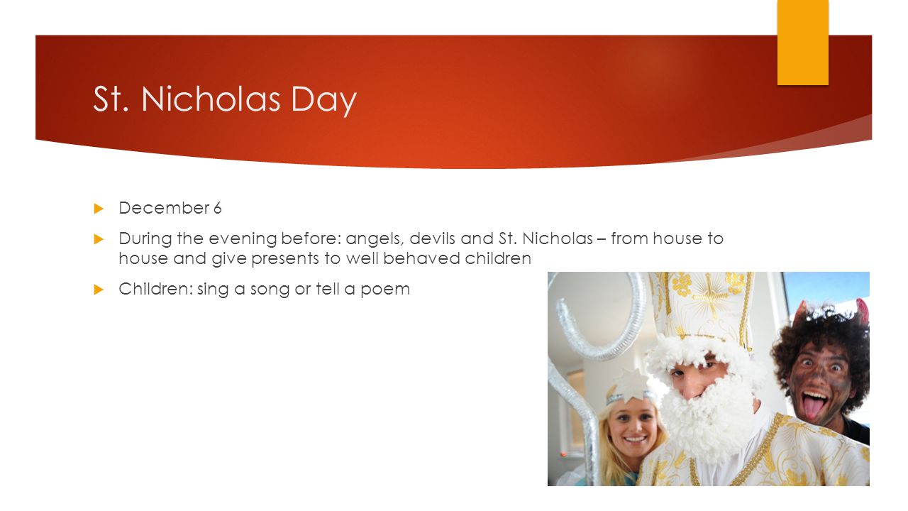 St. Nicholas Day December 6