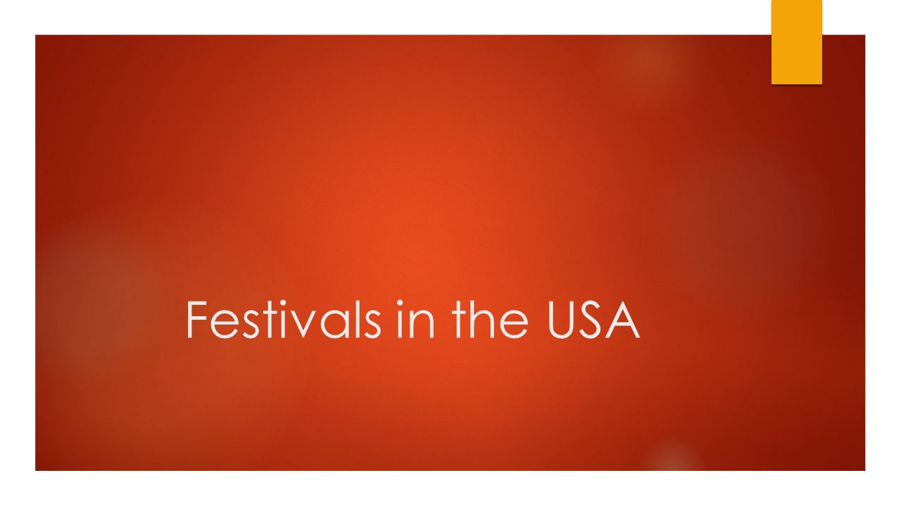 Festivals in the USA