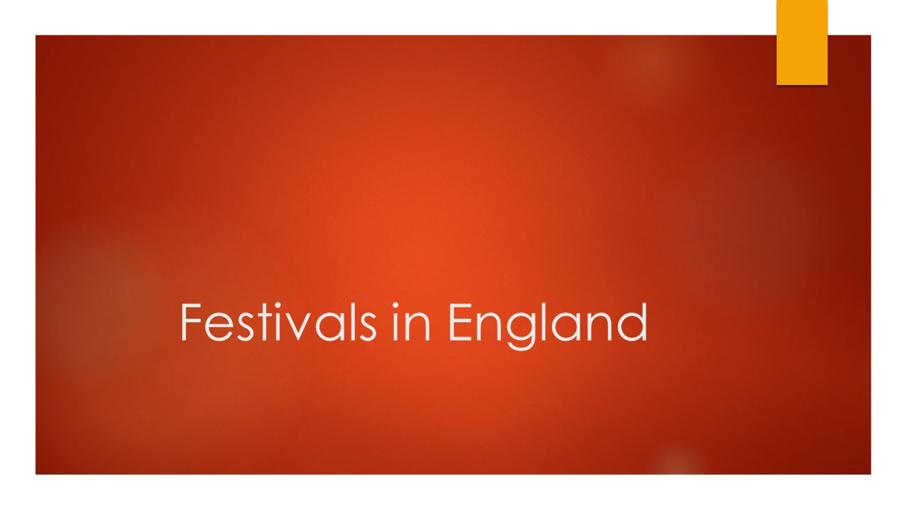 Festivals in England