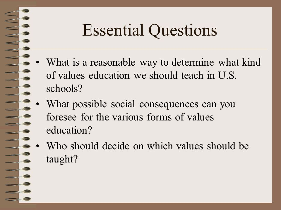 value education questions