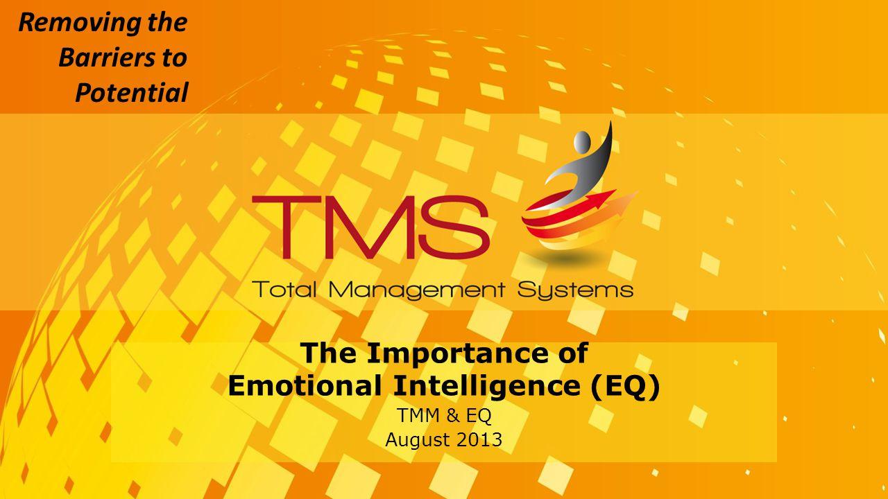 The Importance of Emotional Intelligence (EQ) TMM & EQ