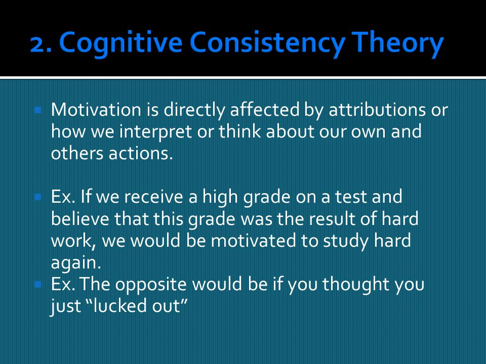 2. Cognitive Consistency Theory