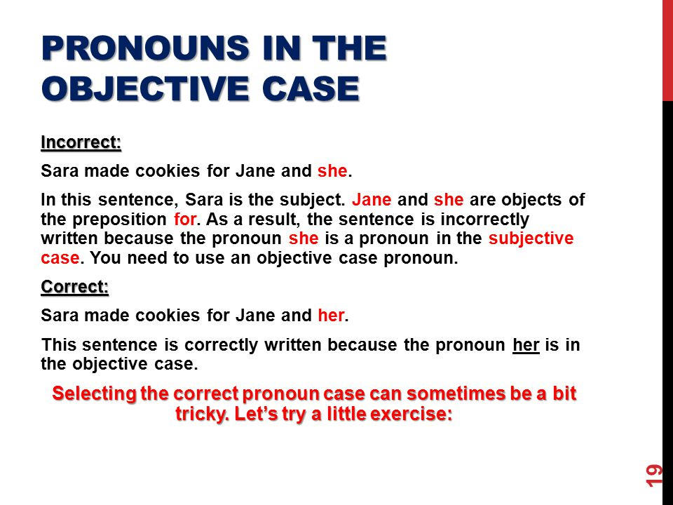Using pronouns correctly ppt video online download.