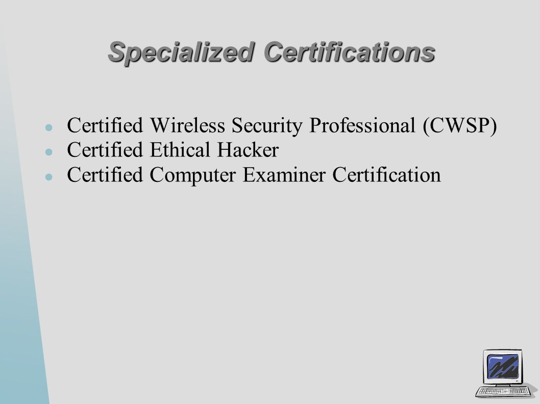 Security Certifications Ppt Video Online Download