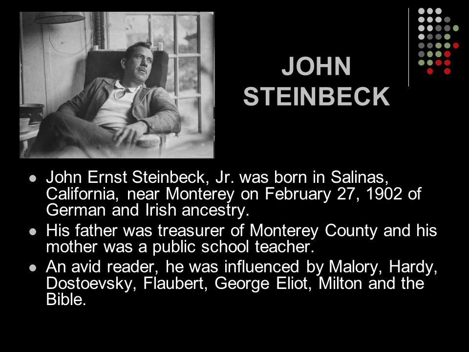 what inspired john steinbeck to write