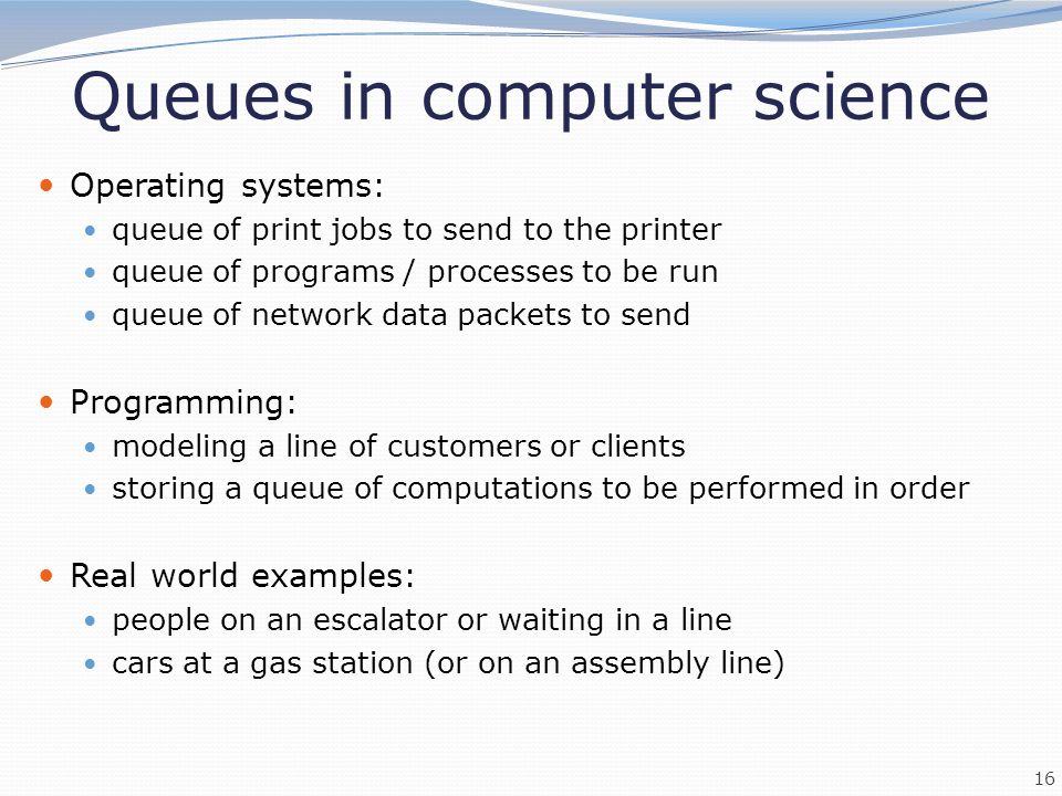 Queues in computer science
