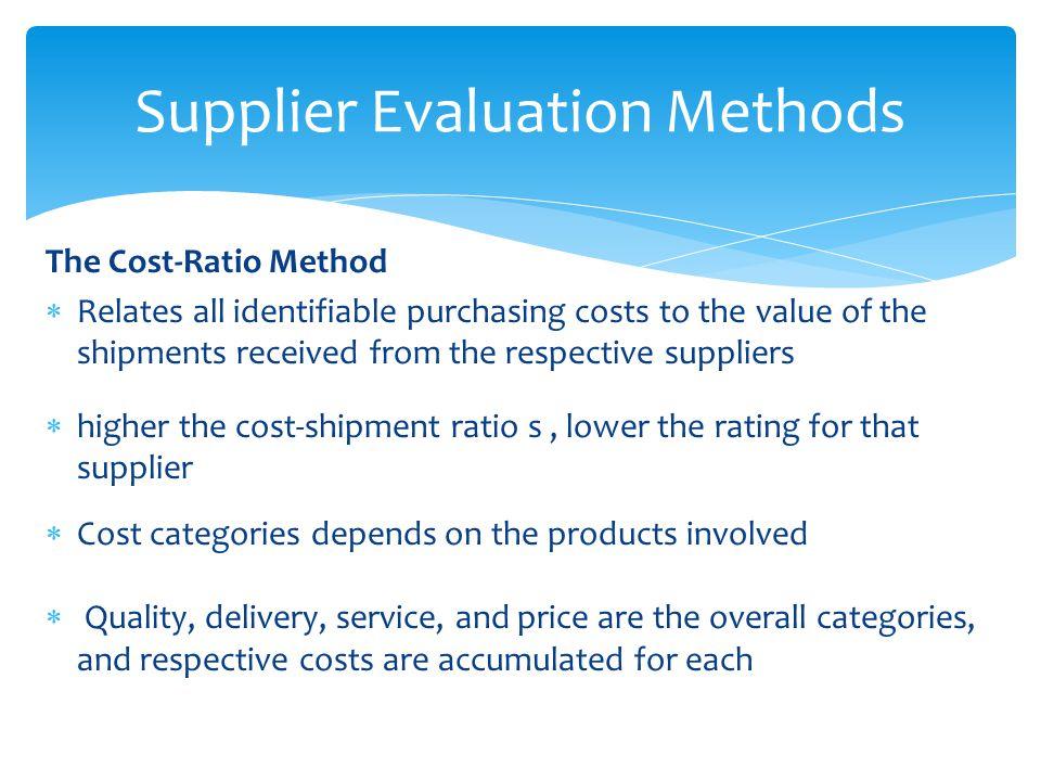 vendor rating methods
