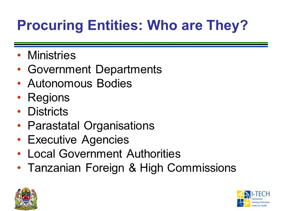 Procuring Entities: Who are They