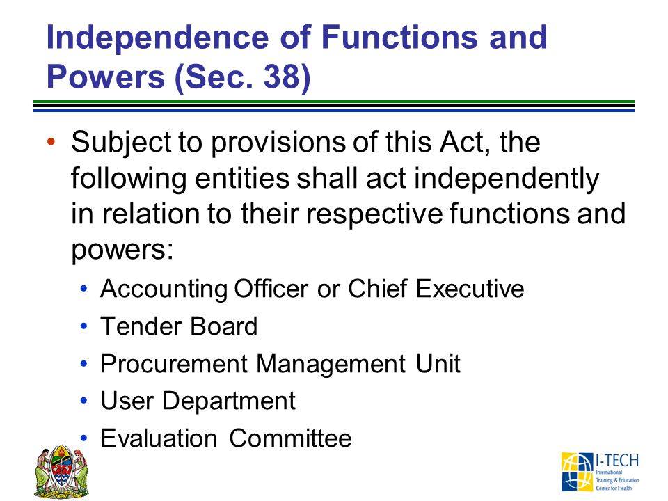 Independence of Functions and Powers (Sec. 38)