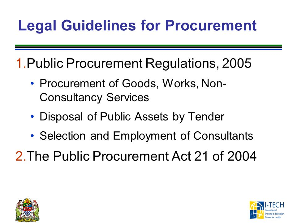 Legal Guidelines for Procurement