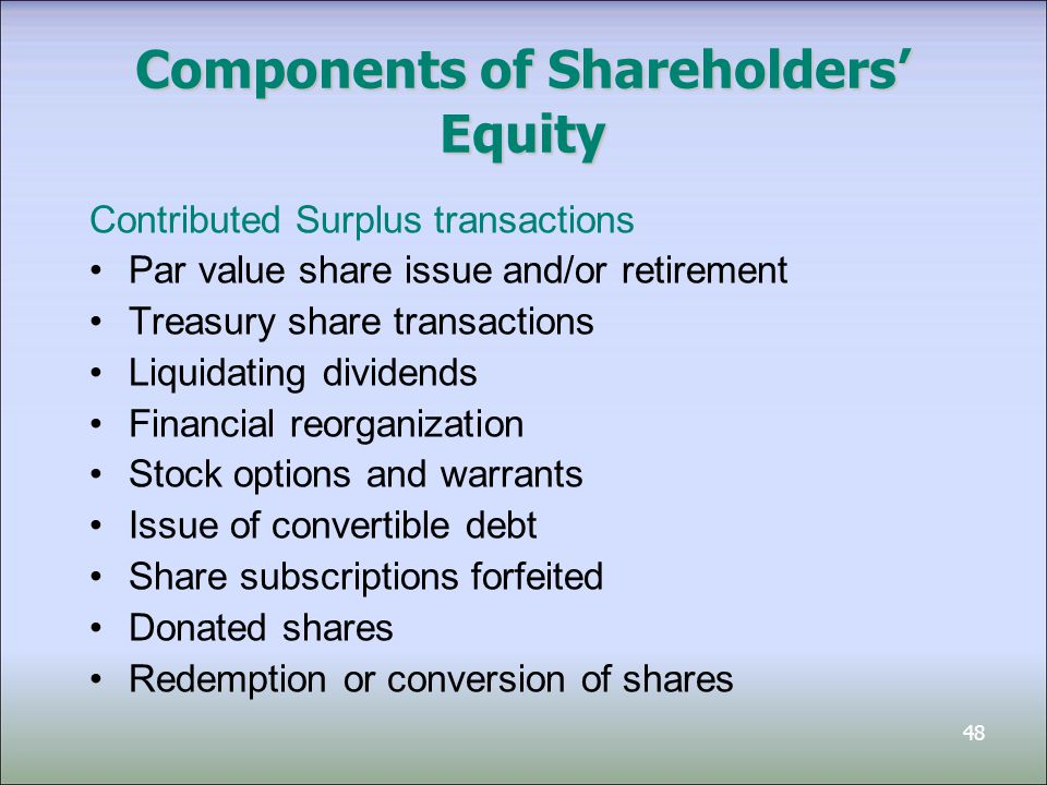 Chapter 15 Shareholders' Equity - ppt video online download