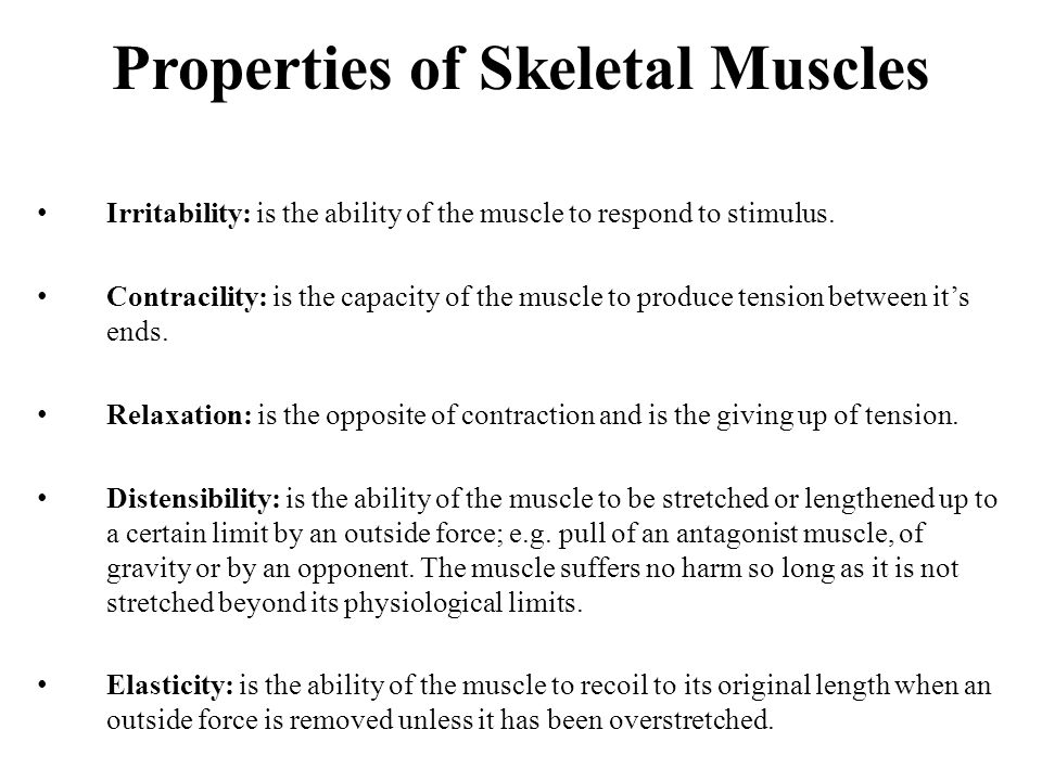 physiological properties of muscle