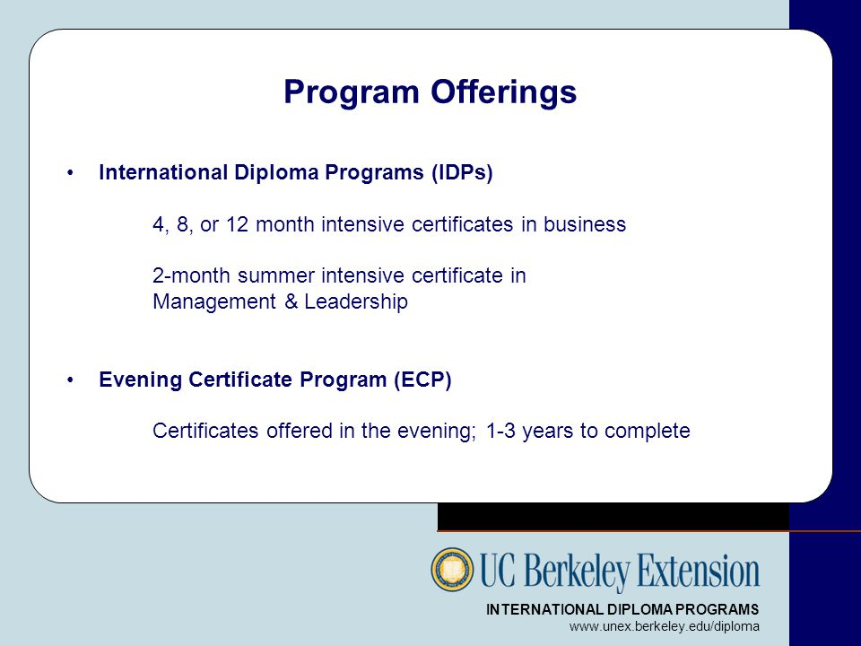 UC Berkeley Extension Overview - ppt download