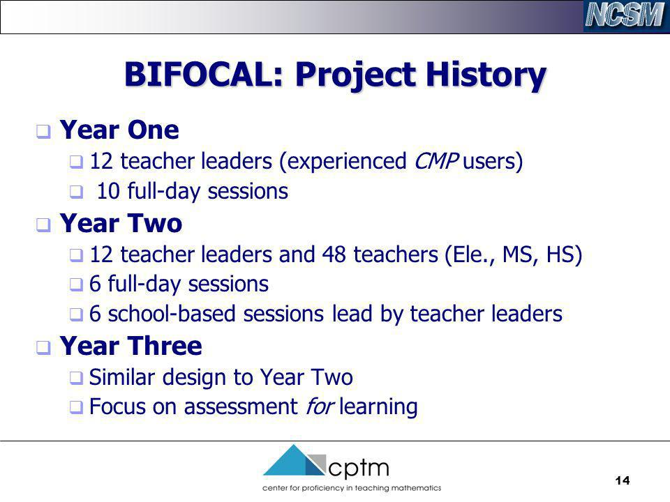 BIFOCAL: Project History