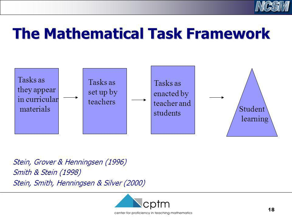 The Mathematical Task Framework