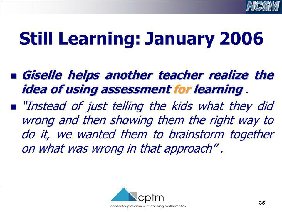 Still Learning: January 2006
