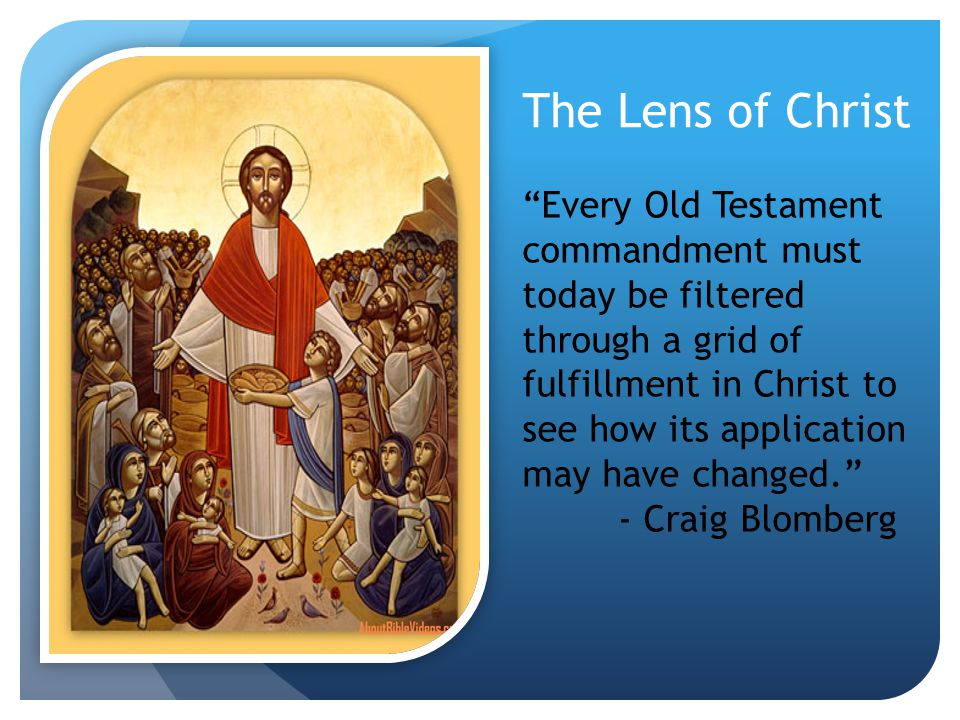 The Lens of Christ